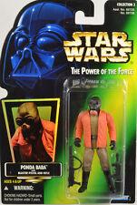 Star Wars Ponda Baba POTF2 Green Holo Card  Figure with PROTECH