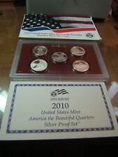 2010 US Mint America the Beautiful Quarters Silver Proof Set w/ Box and Cert.
