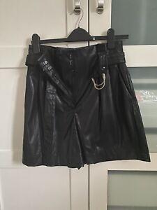 Zara Faux Leather Shorts In Size S Uk 8