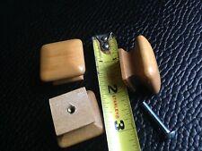 "Antique Solid Wood Maple Knob Pull 1 1/4"" square x 1"" Vintage Cabinet Door"