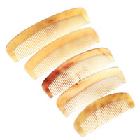 Natural Amber Ox Horn Comb Hair No Static Health Care Brush Hairdressing Comb DD