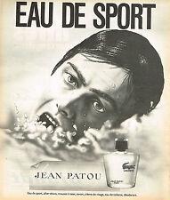 PUBLICITE ADVERTISING 104  1973  JEAN PATOU    eau de sport pour homme after-sha