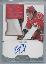 2012 Panini Dominion PATCH/AUTO Justin Faulk RC #d 1/199