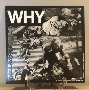 "Discharge - WHY 12"" Punk Vinyl D Beat Hardcore"