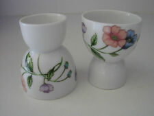 """2 HOUSE OF PRILL egg cups POPPY  POPPIES porcelain 3  1/4"""" h"""