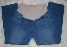 Old Navy Maternity Boot Cut Jeans Full Panel Plus Size 16 Regular 16R Denim Jean