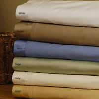 SOLID COLORS 4 PC BEDDING SHEET- SET 1000TC EGYPTIAN COTTON SELECT YOUR SIZE