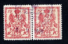 Poland 1915 2 stamps  9.5.1916 Mi#2a type 19+20 used CV=12€