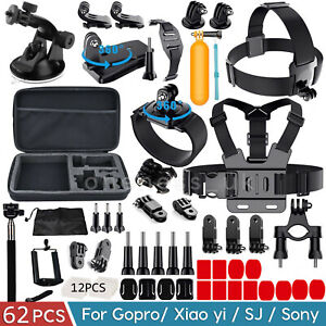 62 PCS Gopro Accessories for Sport Action Camera Hero 9 8 7 6 SJCAM APEMAN AKASO