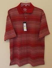 PGA Tour Size M Performance Wick Dry Golf Argyle Polo Rio Red Diamond NWT $50