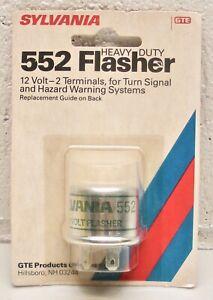 552 Flasher Sylvania GTE Heavy Duty Turn Signal or Hazard 2 Prong, 12V - NOS USA