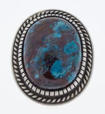 Size 11, Natural Chrysocolla Ring By Navajo Artist Calvin Marintez