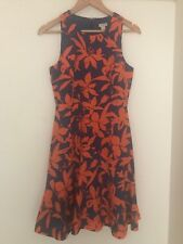 J CREW HIBISCUS FLORAL SUMMER COCKTAIL DRESS SIZE 0/8