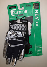 New listing Cutters Rev 2.0 Receiver Gloves Adult Small Black / Silver