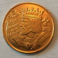 Vintage 1986 Rex King Of Carnival The Royal Academy Alum Gold Doubloon Coin