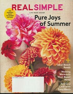 REAL SIMPLE Magazine July 2020 Issue New Unread Pure Joys of Summer