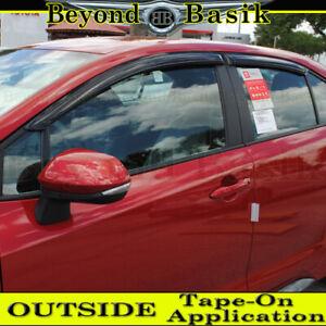 For 2020 2021 Toyota Corolla 4dr Sedan SMOKE Door Vent Window Visors