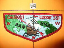 OA Chiriqui Lodge 391 S-1, 1960s,1st Solid Flap,GER,Panama Canal Zone Council,CZ