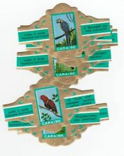 10 cigar bands Caraibe Parrots green iss in 1970