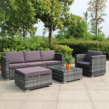 Gartenmöbel Rattanmöbel Rattan Polyrattan Lounge Gartenset Sitzgruppe 3-5 Sitze