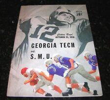 1958 GEORGIA TECH Yellow Jackets SMU Mustangs NCAA Football Program Meredith EX