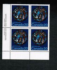 Canada 1976  20c Christmas pl / bl 4 MNH cat $3.00 #699   BOOK 500