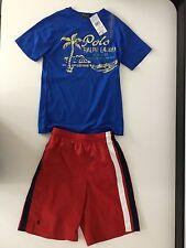 Ralph Lauren Polo Boys Outfit, Size Age 6, T Shirt & Swim Shorts, NEW,