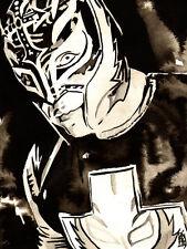 Rey Mysterio 18 x 24 Print, Poster Painting WWE WCW WWF ECW AAA CMLL Wrestling