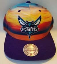 New Charlotte Hornets SUNSET Snapback Mitchell & Ness NBA Hat