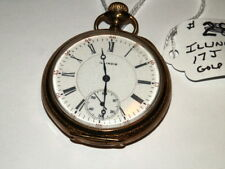 Gold Filled Pocket Watch,Beautiful Watch #5427,Vintage 1896 Illinois 17J 16s