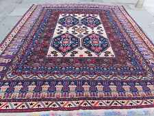 Old Traditional Hand Made Afghan Oriental Large Carpet Cream Wool 360x312cm