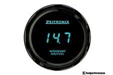 Zeitronix Zt-3&ZR-3 Wideband Gauge with Data Logging (BLUE Digits / Black Beze)