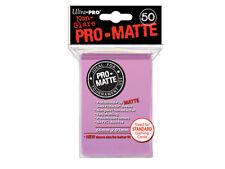 50 PRO MATTE DECK PROTECTORS Pink Rosa MTG MAGIC Ultra Pro