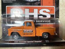 1958 Chevrolet Apache Stepside Pickup Truck M2 Machines 1:64 Orange