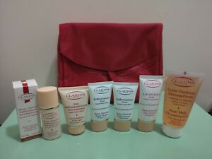 Clarins Extra-Firming Set -Day cream+Night cream+Serum+Body Care+Cleanser + Bag.