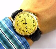 Raketa 2609 AU Gold Plated Original mens wrist watch gift USSR Serviced