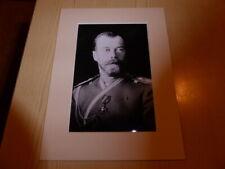 Tsar Nicholas II of Russia Romanov Romanoff mounted photograph