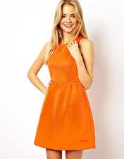 Pepe Jeans Skater Orange Dress - Size S (UK 10) - NEW