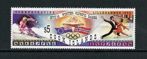 U185 Cook Islands 1994 Olympics skiing skating flags 1v. MNH
