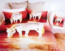 Horse White Sunset Duvet | Doona Quilt Cover Set | Horse Bedding Set | Queen