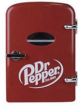 Dr Pepper Portable 6-can Mini Fridge, MIS135DRP, Burgundy
