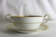Aynsley ARGOSY 8360 2-Handled Soup Bowl Coupe Cup & Saucer 16.5/15.5cm Diameter