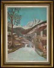 ARTE NAIF - MULINO D'INVERNO  olio tela ENRICO COPETTA COEN 1925-1989