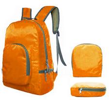 Reiserucksack NEU, orange, faltbar in Tasche für Reisen, 20-30 L