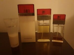 Dolce Gabbana D&G Red Perfume And Body Milk 4 Pcs