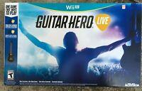 Guitar Hero Live Bundle Game & Wireless Guitar Controller for Wii U - Brand New