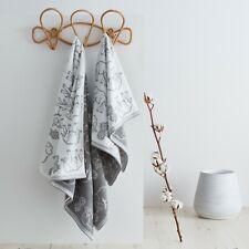 Pineapple Elephant Tembo Tassels 100% Cotton Hand Or Bath Towel Grey