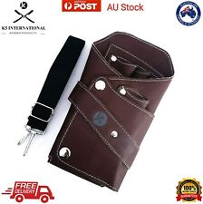 Professional Barber Tool Bag Holster Hairdressing Leather Scissors Pouch Case