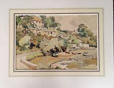 Original Watercolor: 'HELSTON PASSAGE, CORNWALL'  By VERONICA BURLEIGH
