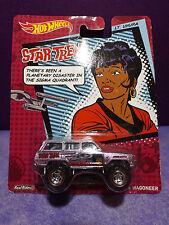 Hot Wheels Star Trek LT. UHURA 1988 JEEP WAGONEER Near mint card.